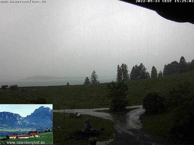 Rieden am Forggensee webcam - Salenberghof webcam, Bavaria, Ostallgau